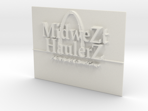 MZHZ Nametag in White Natural Versatile Plastic