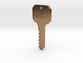 Big Brother Houseguest Key (Personalized Name!) in Natural Brass
