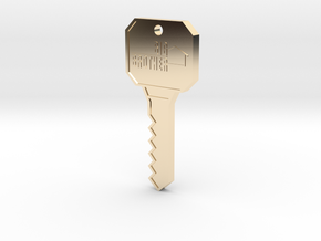 Big Brother Houseguest Key (Personalized Name!) in 14k Gold Plated Brass