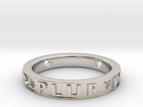 Plur Ring - Size 9 in Rhodium Plated Brass