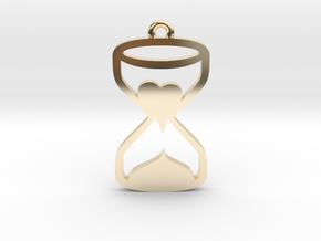 Heart Hourglass Necklace in 14k Gold Plated Brass