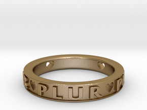 Plur Ring - Size 8 in Polished Gold Steel