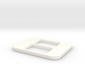 BRZ Limited Console Plate Style 001 in White Processed Versatile Plastic