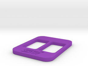 BRZ Limited Blank Console Plate 004 in Purple Processed Versatile Plastic