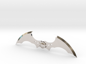 Arkham Asylum Batarang in Rhodium Plated Brass