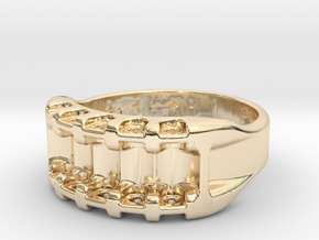 US11.5 Ring IX: Tritium in 14k Gold Plated Brass