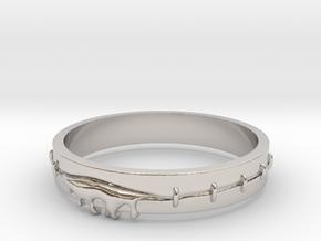 Bleeding Ring in Rhodium Plated Brass