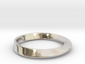 Möbius Ring in Rhodium Plated Brass