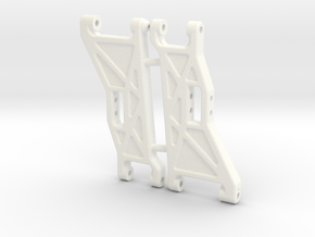 NIX91052 - B2 front arms, Race in White Strong & Flexible Polished