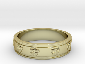 Ring with Skulls - Size 8 in 18k Gold Plated