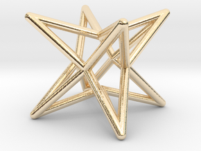 Octahedron Star Earring in 14k Gold Plated Brass