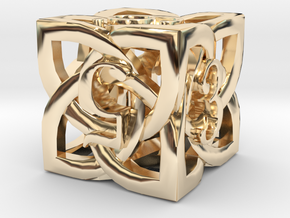 Celtic D6 in 14k Gold Plated