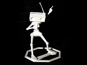 Musical Robot in White Natural Versatile Plastic