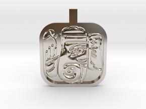 Ganesh Charm in Rhodium Plated Brass
