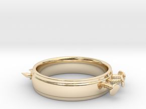 Nailed Wedding Ring - Size 9 in 14k Gold Plated Brass