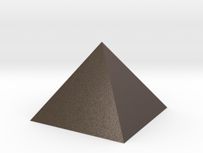 Pyramid Tall in Polished Bronzed Silver Steel