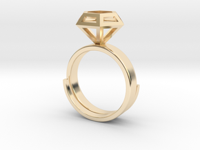 Diamond Ring US 7 3/4 in 14K Yellow Gold