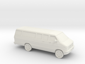 1/87 2002 Dodge Ram Van  in White Natural Versatile Plastic