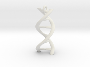 DNA Pendant 30mm in White Natural Versatile Plastic