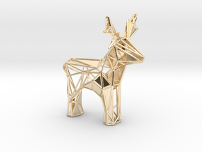 Reindeer toy stl in 14k Gold Plated Brass