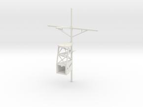 1/96 scale Ticonderoga Mast #1 - Front in White Natural Versatile Plastic