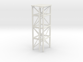 1/96 scale O.H. Perry Mast #2 for SPS-49 Radar in White Natural Versatile Plastic