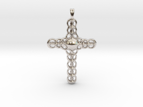 Design CROSS Jewelry Pendant in Silver | Gold  in Rhodium Plated Brass