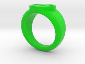 Green Lantern Ring in Full Color Sandstone