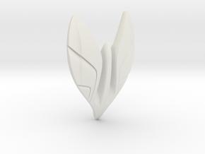 Eagle Charm  in White Natural Versatile Plastic