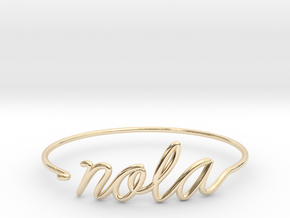 NOLA Wire Bracelet (New Orleans) in 14k Gold Plated Brass