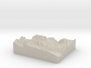 Model of Vorder Schiben in Sandstone