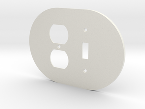 plodes® 2 Gang 1 Toggle Combo Wall Plate 2 in White Natural Versatile Plastic
