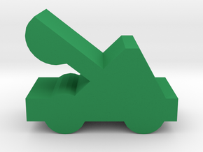 Game Piece, Catapult in Green Processed Versatile Plastic