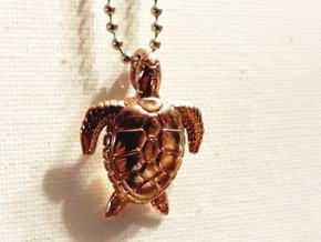 Turtle in 14k Rose Gold Plated
