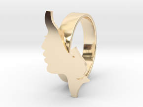 Facial ring -size 7 in 14K Yellow Gold