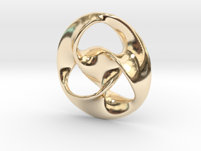 All is one  ( pendant ) in 14k Gold Plated Brass