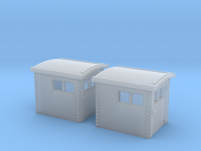 2x N&W Style Dog House N Scale 1:160 in Frosted Ultra Detail