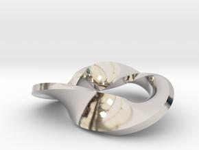 Trefoil moebius - pendant in Platinum