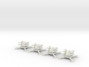 6mm Anti-Air Platforms (x4) in White Natural Versatile Plastic