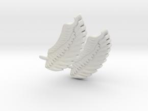 Wings Earrings in White Natural Versatile Plastic