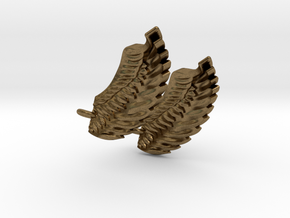 Wings Earrings in Natural Bronze