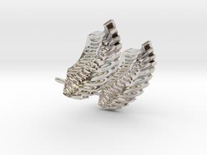 Wings Earrings in Rhodium Plated Brass