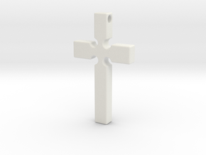 Monroe Cross in White Natural Versatile Plastic