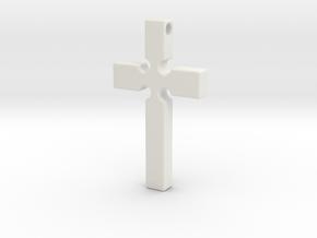 Monroe Cross in White Natural Versatile Plastic