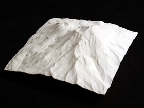 6'' Mt. Shasta, California, USA in White Natural Versatile Plastic