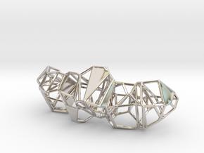 Voronoi Pendent in Rhodium Plated Brass
