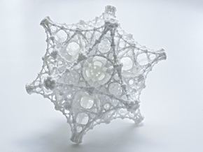 Kaleidoscopic Fractal Virus Lamp in White Processed Versatile Plastic