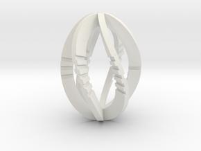 Modern Art D6 / 6-Sided Die in White Natural Versatile Plastic