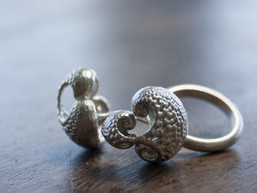 Infinite Duality Ring 16.2mm in Natural Silver