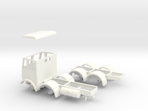 1:43 AEC Mammoth Major Mk1 Cab & 8Whl Chassis in White Strong & Flexible Polished